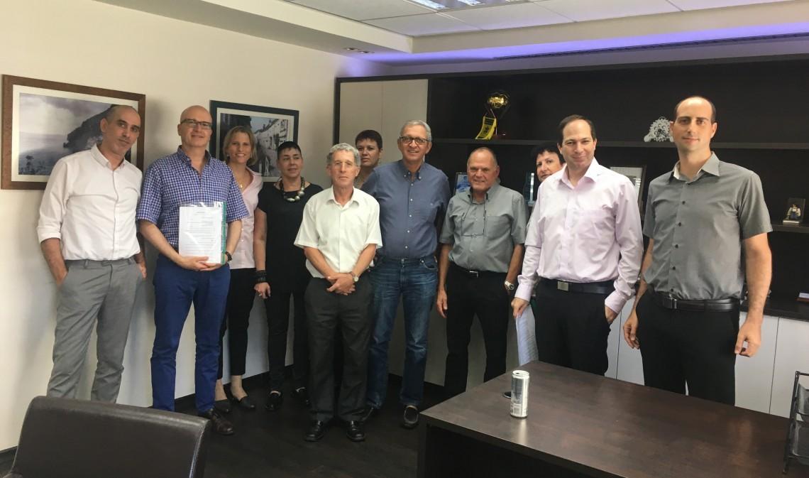 חתימת הסכם אגוד מערכות, צילום דוברות ההסתדרות