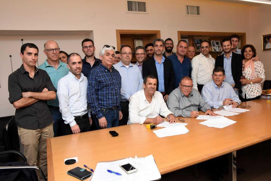 מעמד חתימת ההסכם